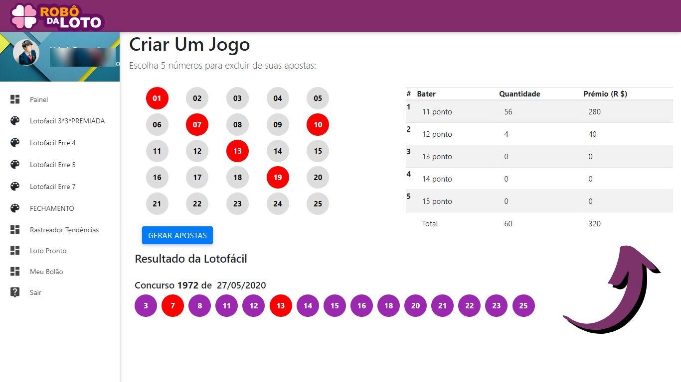 como ganhar na lotofacil - robo da loto - tela erre 5 para acertar 14 pontos na loto